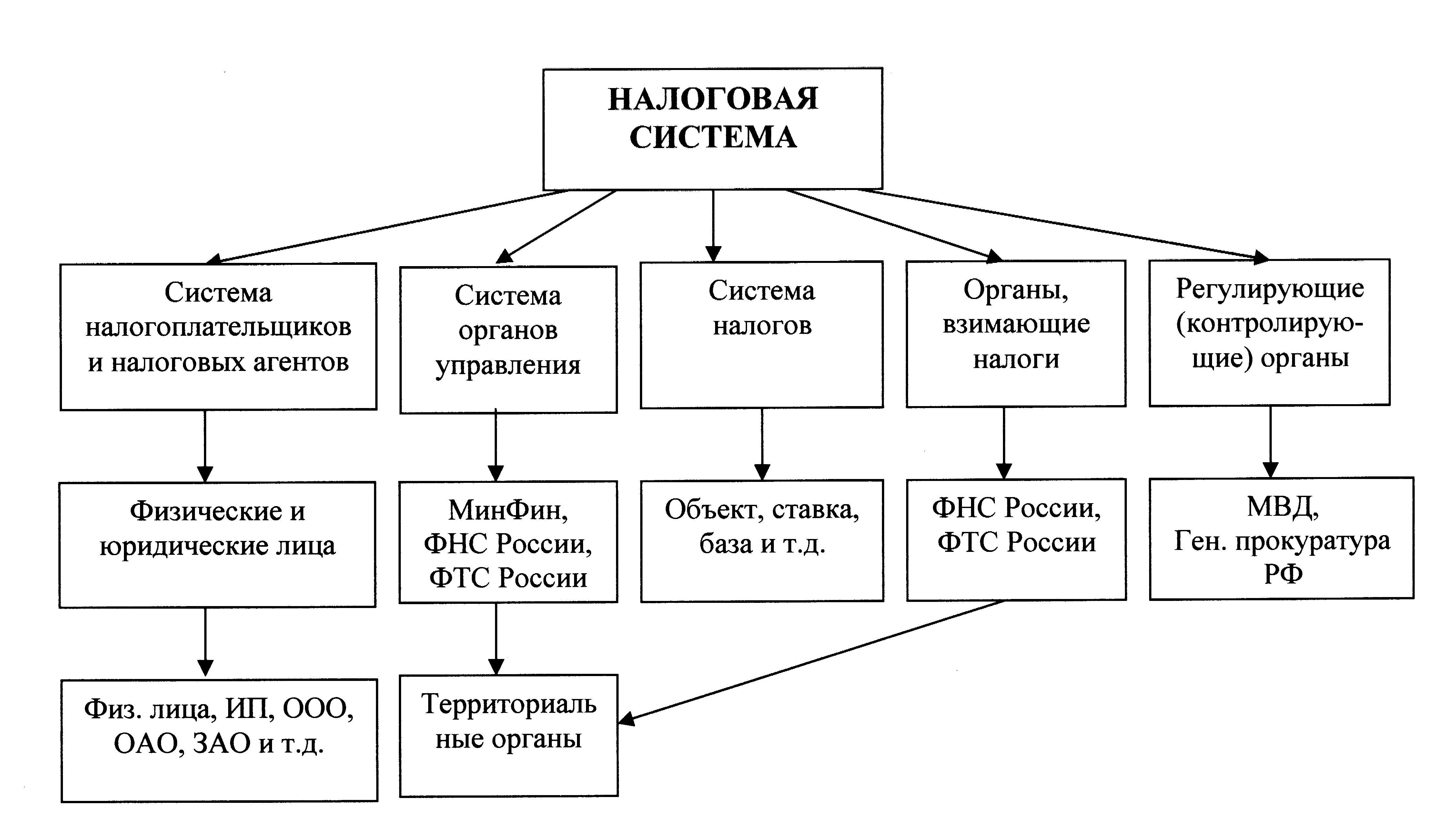 схема налоговой системы украины